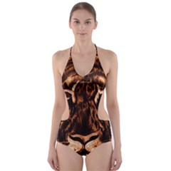Eye Of The Tiger Cut Out One Piece Swimsuit