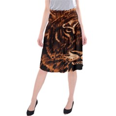 Eye Of The Tiger Midi Beach Skirt