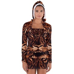 Eye Of The Tiger Women s Long Sleeve Hooded T-shirt