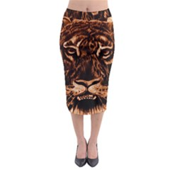 Eye Of The Tiger Midi Pencil Skirt
