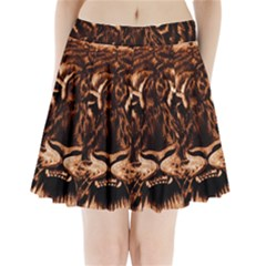 Eye Of The Tiger Pleated Mini Skirt