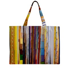 Fabric Zipper Mini Tote Bag