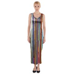 Fabric Fitted Maxi Dress