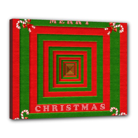 Fabric 3d Merry Christmas Canvas 20  x 16