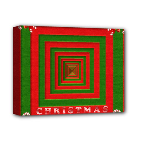 Fabric 3d Merry Christmas Deluxe Canvas 14  x 11