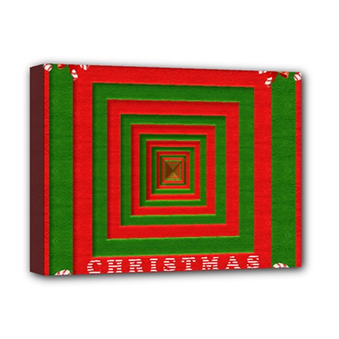 Fabric 3d Merry Christmas Deluxe Canvas 16  x 12