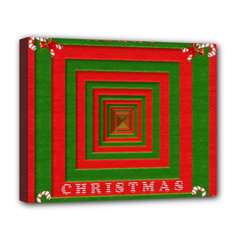 Fabric 3d Merry Christmas Deluxe Canvas 20  x 16