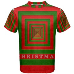 Fabric 3d Merry Christmas Men s Cotton Tee