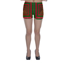 Fabric 3d Merry Christmas Skinny Shorts
