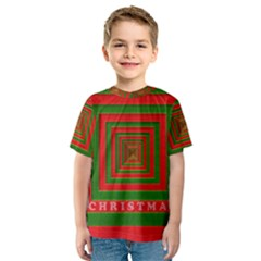 Fabric 3d Merry Christmas Kids  Sport Mesh Tee