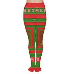 Fabric 3d Merry Christmas Women s Tights