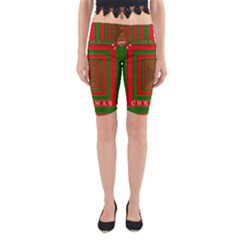 Fabric 3d Merry Christmas Yoga Cropped Leggings