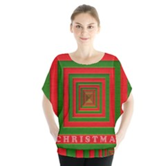 Fabric 3d Merry Christmas Blouse
