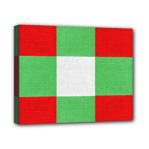 Fabric Christmas Colors Bright Canvas 10  X 8