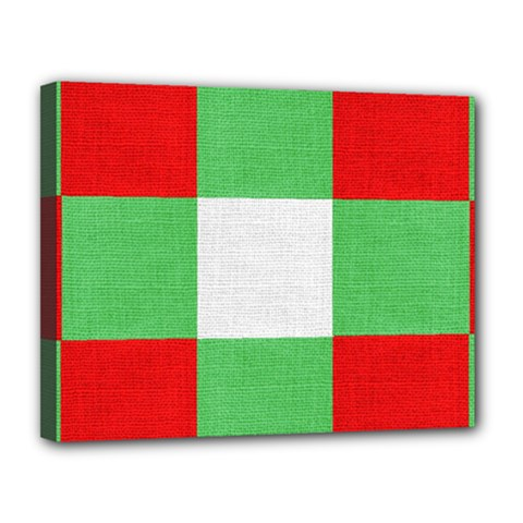 Fabric Christmas Colors Bright Canvas 14  x 11