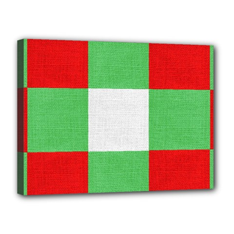 Fabric Christmas Colors Bright Canvas 16  x 12