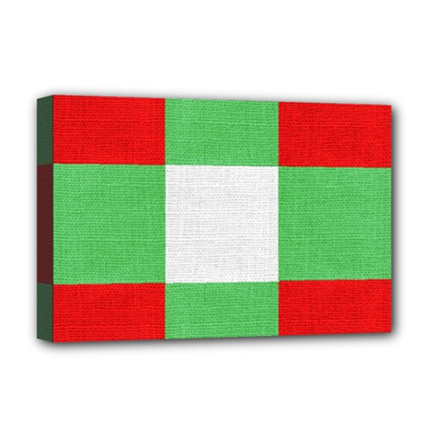 Fabric Christmas Colors Bright Deluxe Canvas 18  x 12