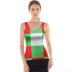 Fabric Christmas Colors Bright Tank Top