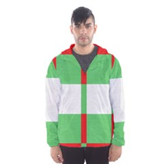 Fabric Christmas Colors Bright Hooded Wind Breaker (Men)