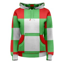 Fabric Christmas Colors Bright Women s Pullover Hoodie