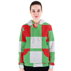Fabric Christmas Colors Bright Women s Zipper Hoodie