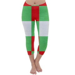 Fabric Christmas Colors Bright Capri Winter Leggings