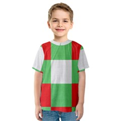 Fabric Christmas Colors Bright Kids  Sport Mesh Tee