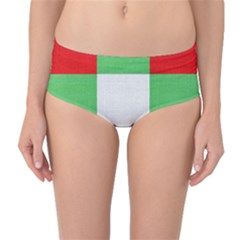 Fabric Christmas Colors Bright Mid-Waist Bikini Bottoms