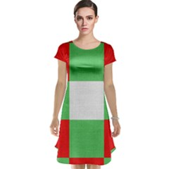 Fabric Christmas Colors Bright Cap Sleeve Nightdress