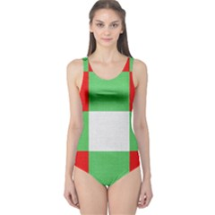 Fabric Christmas Colors Bright One Piece Swimsuit