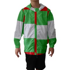 Fabric Christmas Colors Bright Hooded Wind Breaker (Kids)