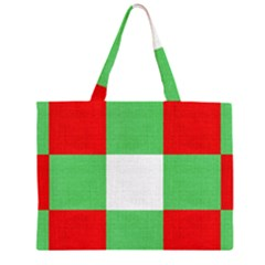 Fabric Christmas Colors Bright Large Tote Bag