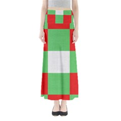 Fabric Christmas Colors Bright Maxi Skirts