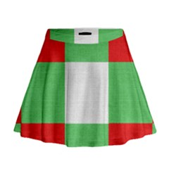 Fabric Christmas Colors Bright Mini Flare Skirt
