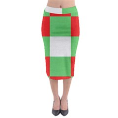 Fabric Christmas Colors Bright Midi Pencil Skirt