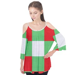 Fabric Christmas Colors Bright Flutter Tees