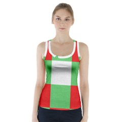 Fabric Christmas Colors Bright Racer Back Sports Top