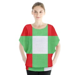 Fabric Christmas Colors Bright Blouse