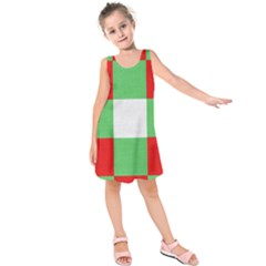 Fabric Christmas Colors Bright Kids  Sleeveless Dress