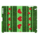 Fabric Christmas Hearts Texture Apple iPad 3/4 Hardshell Case (Compatible with Smart Cover) View1