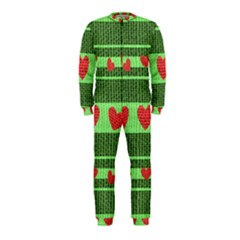 Fabric Christmas Hearts Texture OnePiece Jumpsuit (Kids)