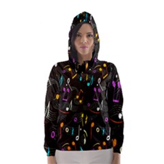 Fabric Cloth Textile Clothing Hooded Wind Breaker (women)