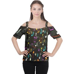 Fabric Cloth Textile Clothing Women s Cutout Shoulder Tee