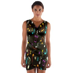 Fabric Cloth Textile Clothing Wrap Front Bodycon Dress
