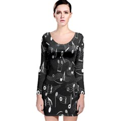 Fabric Cloth Textile Clothing Long Sleeve Velvet Bodycon Dress