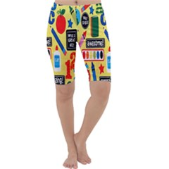Fabric Cloth Textile Clothing Cropped Leggings