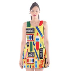 Fabric Cloth Textile Clothing Scoop Neck Skater Dress