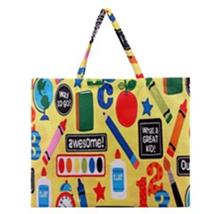 Fabric Cloth Textile Clothing Zipper Large Tote Bag