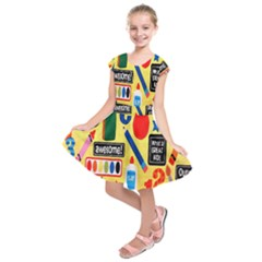 Fabric Cloth Textile Clothing Kids  Short Sleeve Dress