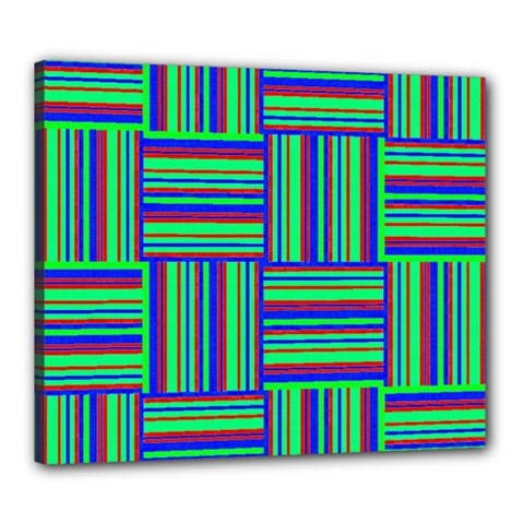 Fabric Pattern Design Cloth Stripe Canvas 24  x 20
